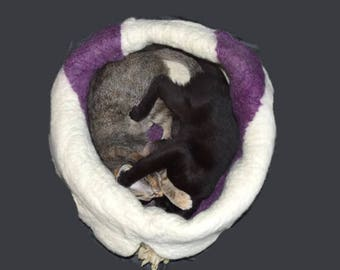 Cruelty Free, Dorset, Cat Bed, Cat Basket, Wool Fleeced, Cat Cradle, Cat Cave, Felted Pet Bed, Dog Basket, Natural Pet Bed, Cat Nest