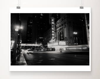Chicago photograph Chicago theatre photography black and white photograph architecture photograph Chicago print urban photograph