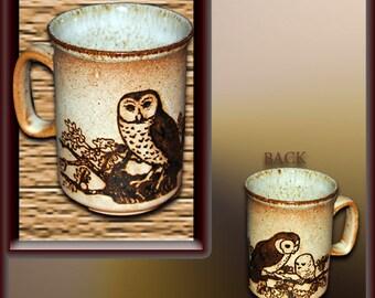 Dunoon 10oz Mug with The Owl Family