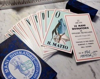 Signed & Numbered Tarot Deck - Le Mani Divinatorie - very rare signed by artist, number 794 of 1500, printed 1979 Italian major arcana deck