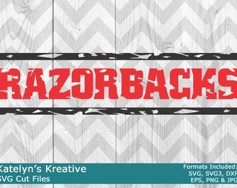 Razorbacks Distressed SVG Files