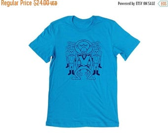 Clearance Space Monkey T-Shirt - Screen Printed Men's T-Shirt - Men's Shirt - SMALL