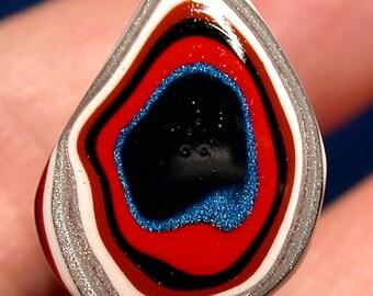 Fordite Cabochon  / Detroit Agate  (suzybones) pendant,jewelry