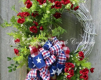 Marvelous Sale U0026 Free Ship Thru 1/2 Patriotic Wreath, Summer Cottage Wreath, 4th