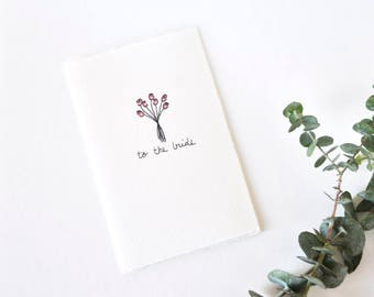 Wedding Shower Card - Simple Rose Bouquet - To the Bride