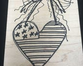 Fourth of July  Independence Day  Rubber Stamps - Used - Stand beside Her