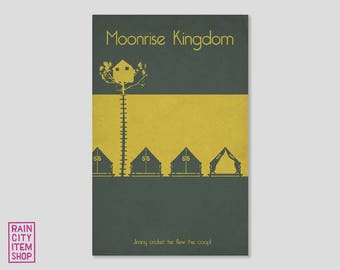 Moonrise Kingdom - Jiminy Cricket he flew the coop! - Wes Anderson Inspired Minimalist Movie Poster
