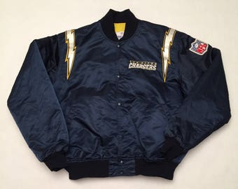 Vintage San Diego Chargers Navy Blue Satin Starter Jacket