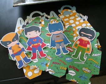 Do It Yourself Boy Superhero Gable Boxes Set of 24