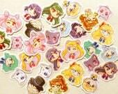 Sailor Moon Sticker. Anime Stickers. Manga Stickers. Kawaii Stickers. Laptop Sticker. Waterproof Sticker. Sticker Pack. Cute Cat Stickers.