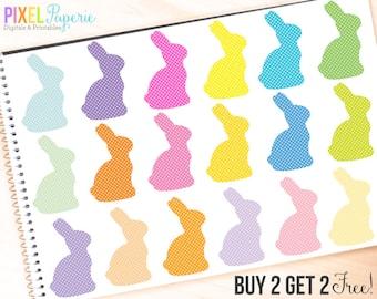 easter clip art clipart digital bunny bunnies - Polka Dot Bunnies Digital Clipart