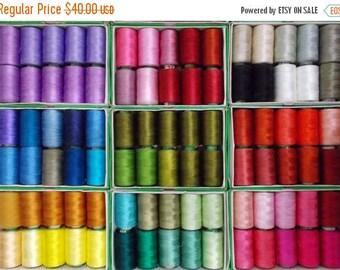 15% off on Silk Thread, 40 Spools Wholesale Indian Silk Thread, Art Silk Thread, Hand And Machine Embroidery Thread
