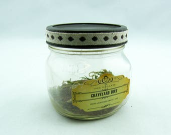 Graveyard Dirt Apothecary Jar Halloween Decoration - Mason Jar