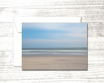 Ocean theme Note Card | impressionist photograph | Greeting Card | Card for beach lover | Beach House Thank You