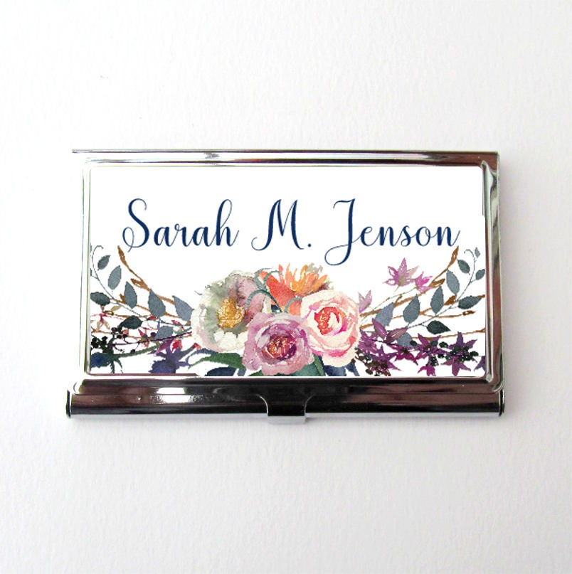 Business card holder personalized business card case secret santa business card holder personalized business card case secret santa gift colourmoves