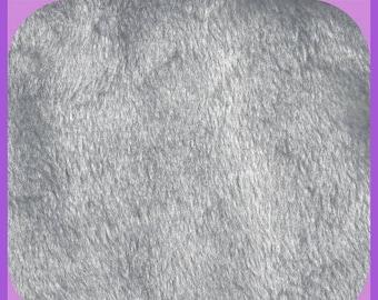 Light Gray FAUX Fur Half Yard 19 x 60 Inch