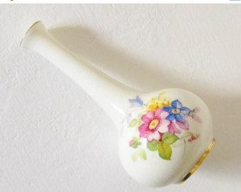 ON SALE Vintage Royal Worsester Hand Painted Porcelain Bud Vase K Blake signed 1941