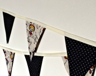Day of the Dead (Dia de los Muertos) Fabric Bunting