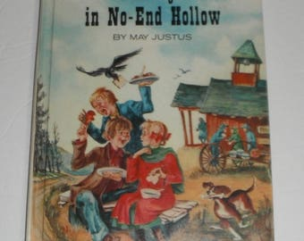 Holidays in No End Hollow by May Justus Vintage Hardcover ex-library book