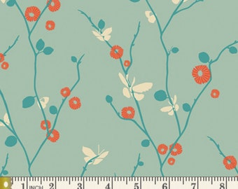 Rapture - Butterfly Bliss Aqua by Pat Bravo from Art Gallery Fabrics