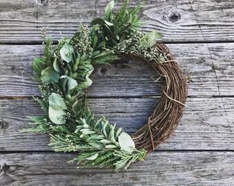 Eucalyptus + Cedar Wreath
