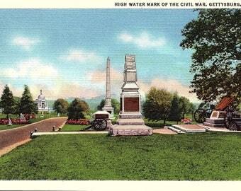 Gettysburg, Pennsylvania, High Water Mark, Civil War - Vintage Postcard - Postcard - Unused (CC)