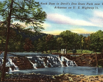 Winslow, Arkansas, Rock Dam, Devil's Den, State Park - Vintage Postcard - Postcard - Unused (II)