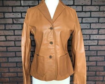 Vintage 90s Gap Tan Leather jacket