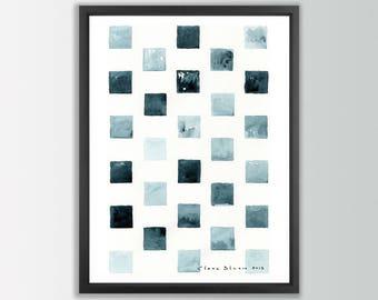 Minimalist Art Print. Abstract Painting Print. Minimalist painting print. Modern watercolor. Minimalist watercolor abstract wall art