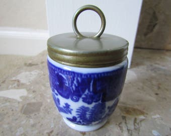 Royal Worcester Crown Ware Willow Egg Coddler