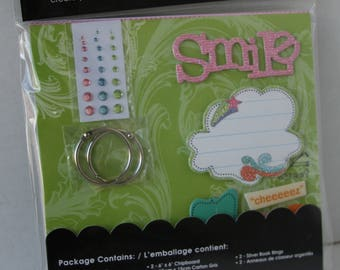me&my BIG ideas chipboard album kit, Alison-Smile, New!