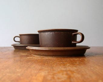 """Single Vintage Arabia Finland """"Ruska"""" Cup and Saucer Many Available"""