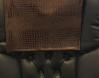 Vinyl Reptile Copper 14x30 Sofa Loveseat Chaise Cover Chair Caps Headrest  Pad, Recliner Head Cover