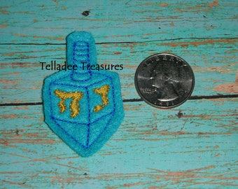 Dreidel Feltie -Small blue felt - Great for Hair Bows, Reels, pins and Crafts - Hanukkah / Chanukah