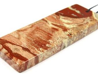 Australian Red Snake Skin Jasper Rectangle Pendant - 60mm x 23mm x 5mm - B5759
