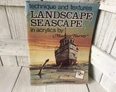 Vintage book Landscape Seascape in Acrylics Walter Foster art instruction 1960s- free shipping US