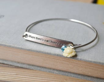 Where There's a Will Silver Bracelet with Ivory Rose