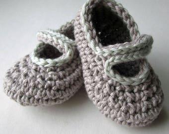 Stripey Mary Jane Baby Shoe