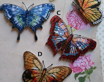 Iron-on Butterfly Embroidered Sequins Patch