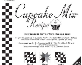 Cupcake Mix recipe pad #4 by Miss Rosie for moda fabric