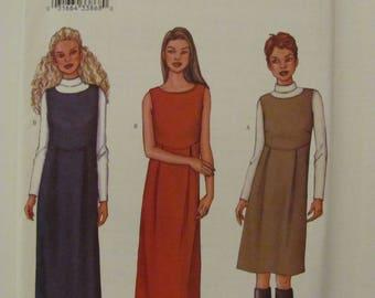Butterick 3245 Size 12-14-16 Sleeveless Dress and Turtleneck Top 2001