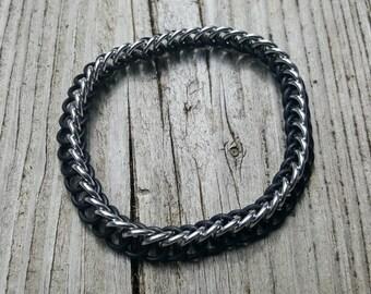 Black Half Persian 3-in-1 Rubber Ring Bracelet