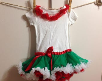 Pettiskirt Onesie Baby Girl 3 Months Christmas Holiday Ready to Ship