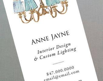 Business Card for Interior Designer, Lighting Designer,Stager, Set of 50