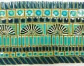 165+ Handmade Ceramic Mosaic Tile Pieces Ceramic Stoneware Tiles Teal, Aqua Crackle, Turquoise Tones Glazed Craft Tile Assortment #1