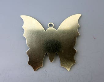 "Butterfly Stamping Blank with Tag, 24G Nickel Silver, 1 3/8"", Ready to Ship"