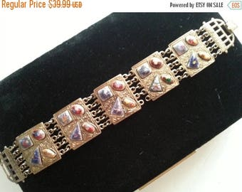 Now On Sale Retro Bracelet 1950's 1960's Hollywood Regency Mad Men Mod 60's Style Retro Collectible Vintage Jewelry