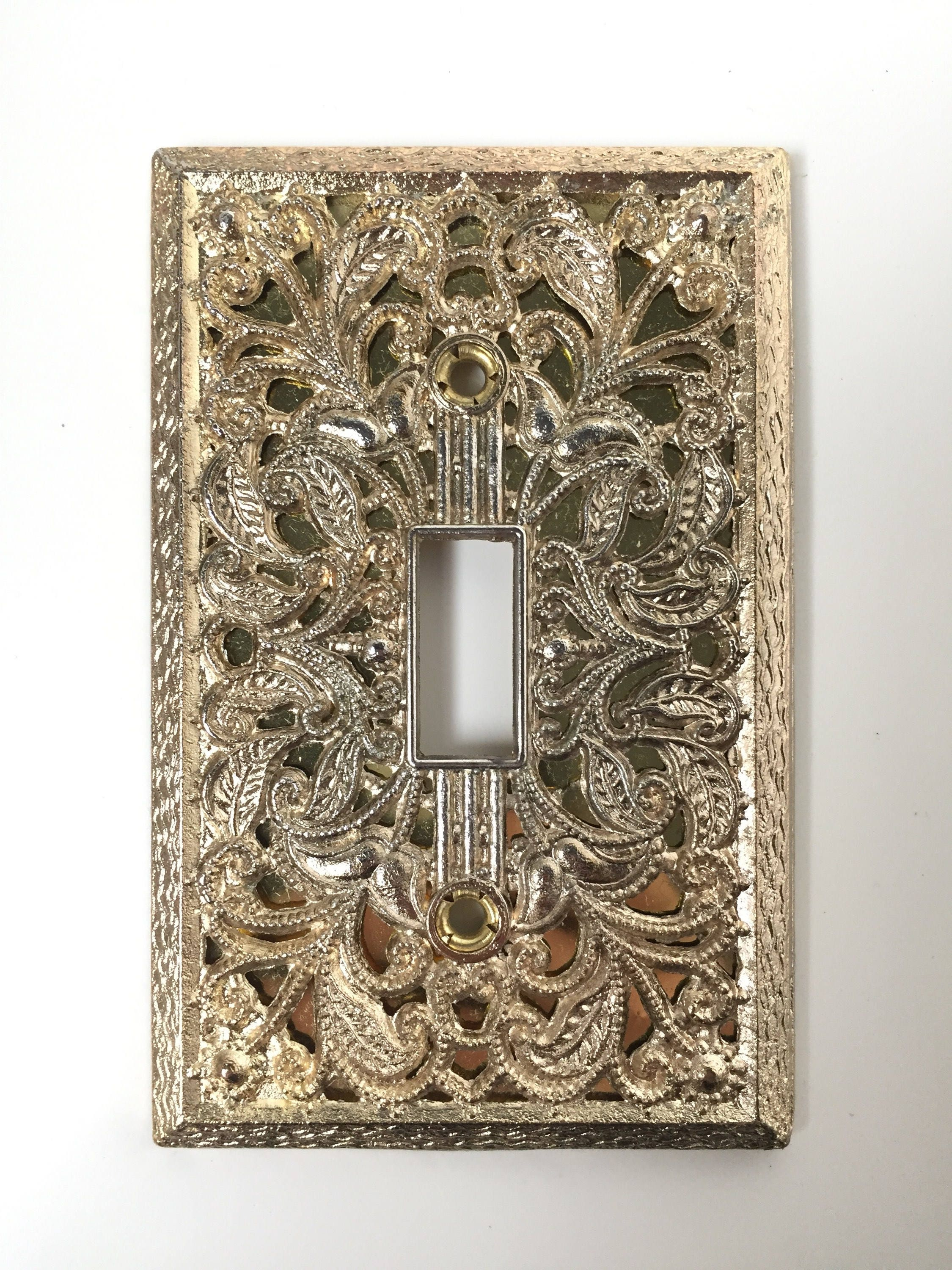 Light switch cover decorative switchplate vintage switchplates light switch cover decorative switchplate vintage switchplates gold lightswitch cover plate ornate arubaitofo Images