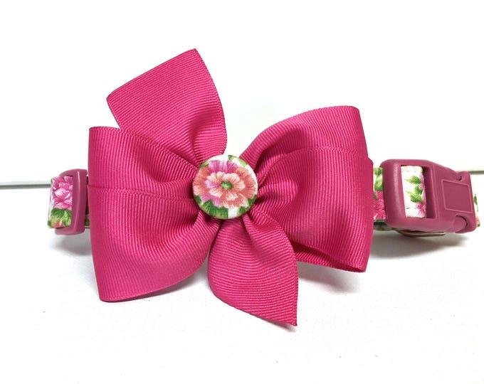 Featured listing image: Dog Collar - The Sweet Pea- Adjustable Collar with removable bow