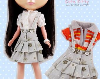 Clearance Sale - YAN - Layers Bib Skirt for Blythe doll